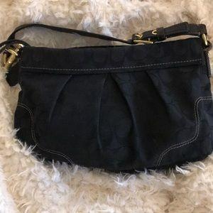 "Coach bag, black, 12"" X 7"""